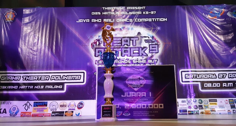 """Martino A. W., Mahasiswa STIKI yang Berhasil Juarai Kompetisi Dance """"Beat Attack Vol. 9"""""""